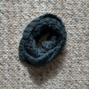 Teal Scarf, Loose Thick Knit Infinity Scarf